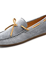 Men's Shoes Pigskin Spring Fall Moccasin Loafers & Slip-Ons Bowknot For Casual Khaki Dark Brown Gray Black
