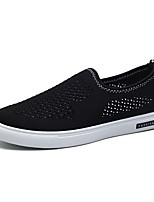 Men's Shoes Knit Fall Driving Shoes Loafers & Slip-Ons For Casual Gray Black White