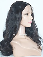 жен. Парики из натуральных волос на кружевной основе Евро-Азиатские волосы Натуральные волосы Полностью ленточные 130% плотность Kinky