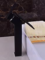 Moderne Montage Jet pluie with  Soupape céramique Mitigeur un trou for  Noir , Robinet lavabo