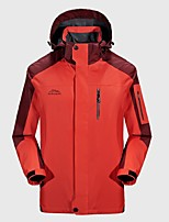 Men's Hiking Jacket Windproof Rain-Proof Wearable Breathability Full Length Visible Zipper Winter Jacket Top for Camping / Hiking Cycling