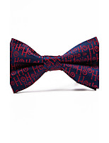 Men's Polyester Bow Tie,Irregular Style Jacquard All Seasons