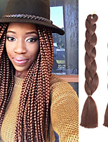 Jumbo Hair Braid Havana Crochet 100% kanekalon hair 100% Kanekalon Hair Medium Brown Yellow Green Blue White 24