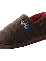 Men's Shoes Velvet Winter Fur Lining Fluff Lining Comfort Slippers & Flip-Flops Pom-pom For Casual Light Grey Brown