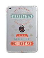 Назначение iPad (2017) iPad 10.5 iPad Pro 12,9 '' Чехлы панели Прозрачный С узором Задняя крышка Кейс для Рождество Мягкий Термопластик