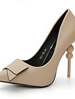 Для женщин Обувь Дерматин Весна Осень Зима Удобная обувь Оригинальная обувь Туфли лодочки Обувь на каблуках На шпильке Бант Назначение