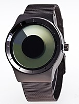 Men's Women's Wrist watch Quartz Stainless Steel Band Unique Creative Casual Black