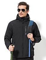 Men's 3-in-1 Jackets Quick Dry Windproof Rain-Proof Stretchy Waterproof Single Slider Top for Running/Jogging Climbing Traveling Winter