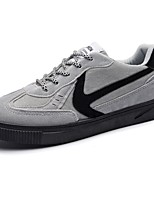 Men's Shoes PU Spring Fall Comfort Sneakers Lace-up For Casual Gray Black
