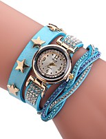 Women's Fashion Watch Bracelet Watch Unique Creative Watch Chinese Quartz PU Band Charm Elegant Casual Black White Blue Red Brown Pink