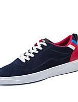 Da uomo Scarpe Tessuto Primavera Autunno Comoda Sneakers Lacci Per Casual Nero Rosso Blu