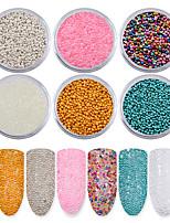 6Pcs/set Nail Micro Caviar Beads Manicure Mini 3D  Glitter Decoration