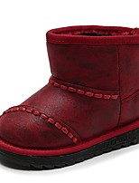 Girls' Shoes Synthetic Microfiber PU Winter Fluff Lining Snow Boots Fashion Boots Bootie Boots Booties/Ankle Boots For Casual Dress