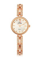 Women's Fashion Watch Simulated Diamond Watch Unique Creative Watch Chinese Quartz Alloy Band Rose Gold