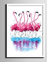 Animais Animal Abstracto Quadros Emoldurados Conjunto Emoldurado Arte de Parede,PVC Material com frame For Decoração para casa Arte