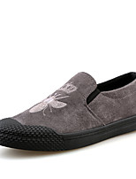 Men's Shoes PU Fabric Spring Fall Comfort Loafers & Slip-Ons For Casual Outdoor Black Gold
