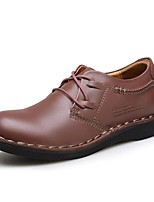 Men's Shoes Nappa Leather Fall Winter Formal Shoes Oxfords Lace-up For Casual Outdoor Brown