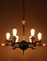 American Restaurant Industry Wind Restoring Ancient Ways Wrought Iron Chandelier Lamp Droplight Individuality Creative Sitting Room Lamps And Lantern
