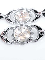 Муж. Для пары Кожаные браслеты Мода По заказу покупателя Кожа Сплав Круглой формы В форме короны Бижутерия Назначение На выход