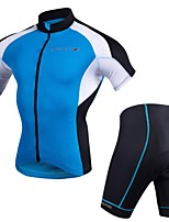 Cycling Jersey with Shorts Men's Short Sleeves Bike Clothing Suits Quick Dry Anatomic Design 3D Pad Lightweight Breathability Spandex