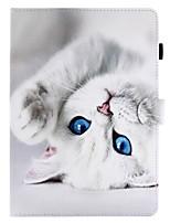 para la carpeta del portatarjetas de la cubierta de la caja con el cuero lleno de la PU del gato de la caja completa del cuerpo del patrón
