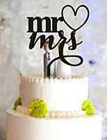 Cake Topper Monogram Plastic Wedding Party PVC Bag