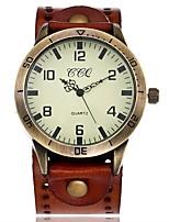 Муж. Жен. Наручные часы Уникальный творческий часы Повседневные часы Китайский Кварцевый Кожа Группа Винтаж Повседневная Элегантные часы
