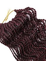 Twist Braids Hair Braid Crochet 100% kanekalon hair 100% Kanekalon Hair Black/Purple Medium Brown Black/Burgundy Black/Medium Auburn