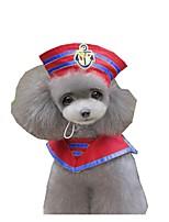 Cane Costumi Abbigliamento per cani Cosplay Marinaro Rosso Blu