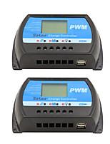 2pcs rtd-30a 12v 24v panneau solaire chargeur et décharge régulateur lcd pwm régulateur solaire pour maison pv système mini chargeur de