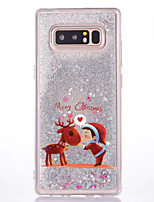 For Case Cover Flowing Liquid Pattern Back Cover Case Christmas Glitter Shine Hard PC for Samsung Galaxy Note 8 Note 5 Note 4 Note 3