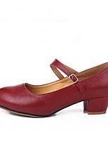 Women's Modern Cowhide Heel Outdoor Customized Heel Red 1 - 1 3/4 2 - 2 3/4 Customizable