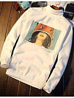 Sweatshirt Homme Décontracté / Quotidien Imprimé Col Arrondi Micro-élastique Coton Polyester Manches longues Automne