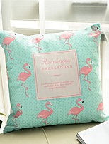 1 pcs Cotton Pillow Cover,Flamingo Printing Style