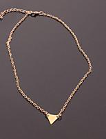 Femme Pendentif de collier Forme de Triangle Alliage Le style mignon Métallique Bijoux Pour Quotidien