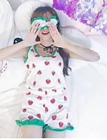 Feminino Regata Calça Conjuntos Casual Simples Verão,Estampado Com Alças Sem Manga