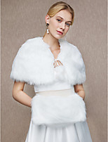 Women's Wrap Capelets Faux Fur Wedding Party/ Evening Lace-up