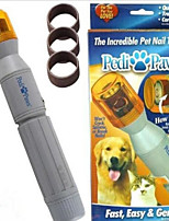 Cat Dog Cleaning Nail Clipper Automatic Rotatable White