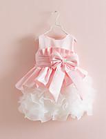 Girl's Birthday Solid Dress,Cotton Spandex Spring Fall Sleeveless