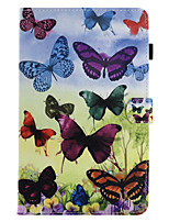 For Samsung Galaxy Tab T580 T560 PU Leather Material Butterfly Pattern Flat Protective Case T550 T350 T375