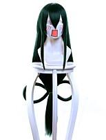 Women Synthetic Wig Capless Very Long Straight Black/Dark Green Cosplay Wig Costume Wig