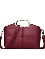 Women Bags All Seasons PU Shoulder Bag Zipper Tiered for Outdoor Black Red Gray Purple