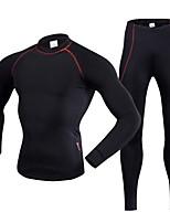 Realtoo Maglia con pantaloni da ciclismo Unisex Manica lunga Bicicletta Intimo/Maglia Intima Traspirabilità Elastico Tessuto sintetico