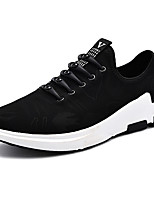 Men's Shoes PU Spring Fall Comfort Light Soles Sneakers Lace-up For Athletic Black