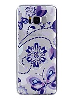 For Case Cover Transparent Pattern Back Cover Case Mandala Butterfly Soft TPU for Samsung Galaxy S8 Plus S8 S7 edge S7 S5