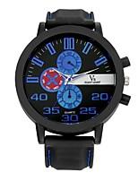 Herrn Sportuhr Armbanduhren für den Alltag Armbanduhr Chinesisch Quartz / Silikon Caucho Band Vintage Bequem Schwarz