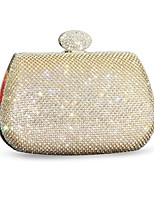 Women Bags All Seasons Silk Evening Bag Crystal Detailing for Event/Party Gold Silver