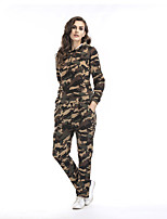Women's Sports Casual/Daily Street chic Fall Hoodie Pant Suits,Print Hooded Long Sleeve