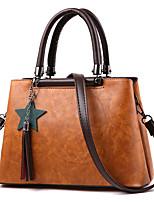 Women Bags Winter All Seasons PU Shoulder Bag Zipper for Casual Office & Career Black Gray Yellow Dark Green Wine