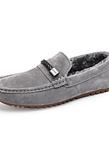 Men's Shoes Suede Fall Winter Fluff Lining Comfort Loafers & Slip-Ons Studded For Casual Party & Evening Blue Gray Black